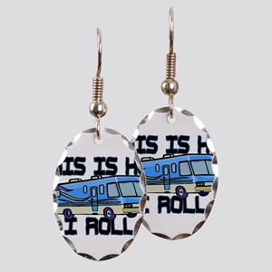 How I Roll RV Earring Oval Charm