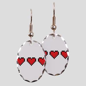 3 Hearts Earring Oval Charm