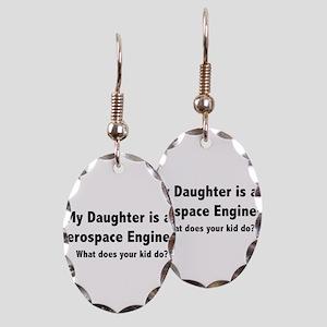 Aerospace Engineer Daughter Earring Oval Charm