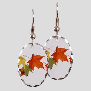Autumn Colors Earring Oval Charm