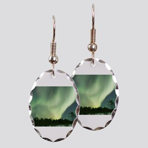 Northern Lights Earring Oval Charm