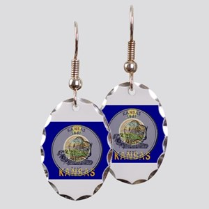 Kansas Quarter 2005 Earring Oval Charm