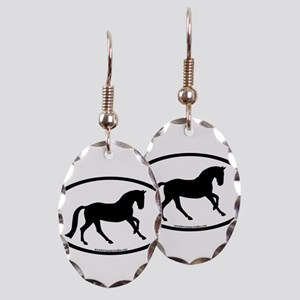 Canter Horse Oval Earring Oval Charm