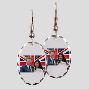 HRH Prince Harry and Meghan Mar Earring Oval Charm
