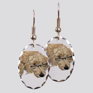 Goldendoodle Stella Earring Oval Charm