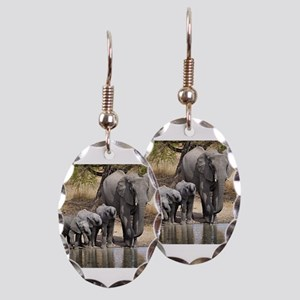 Elephant mom and babies Earring