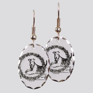 Airedale Earring Oval Charm