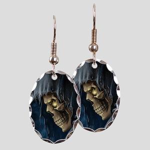 Grim Reaper Earring Oval Charm