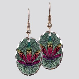 Marijuana Leaf Earring Oval Charm