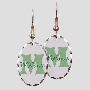 CUSTOM Green Monogram Earring