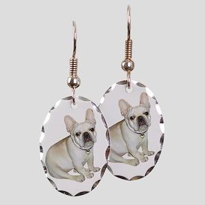 FRENCH BULLDOG 3 Earring Oval Charm