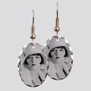 louise brooks silent movie star Earring Oval Charm