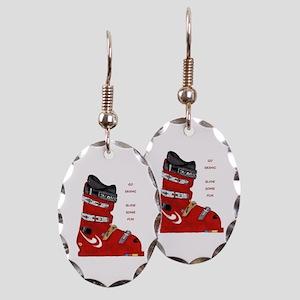ski boot Earring Oval Charm