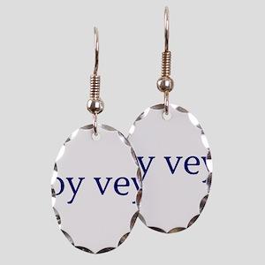 Oy Vey Earring Oval Charm