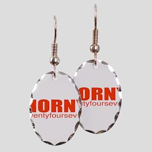 Horny Earring Oval Charm