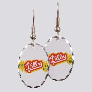 Dilly Soda 4 Earring Oval Charm