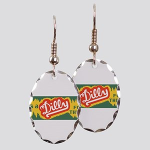 Dilly Soda 3 Earring Oval Charm