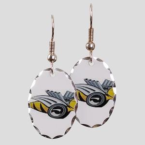 Neon Bee Earring Oval Charm