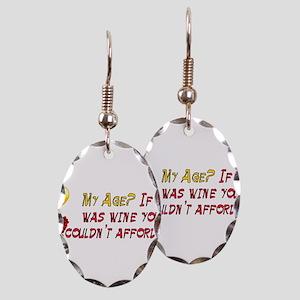 Fine Wine Earring Oval Charm