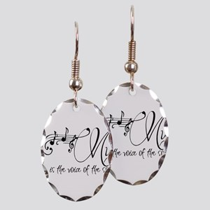 Music is the voice of the soul Earring Oval Charm