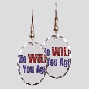 He Will Hit You Again Earring Oval Charm