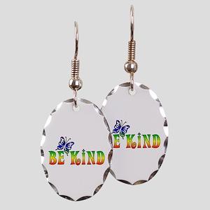 Be Kind Earring Oval Charm