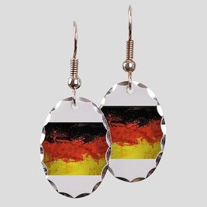 Artsy German Flag Earring Oval Charm