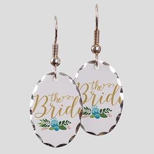 The Bride-Modern Text Design Go Earring Oval Charm