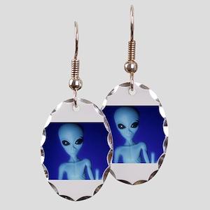 The Blue Alien Earring