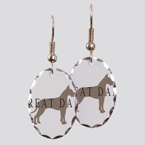 great dane greytones Earring Oval Charm
