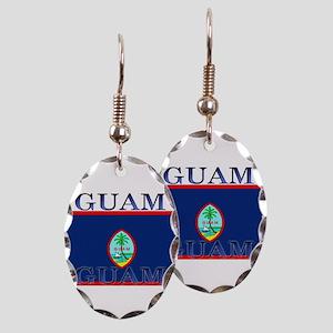 Guam Earring Oval Charm