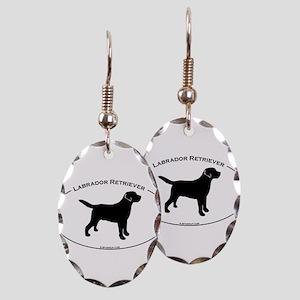 Labrador Oval Text Earring Oval Charm