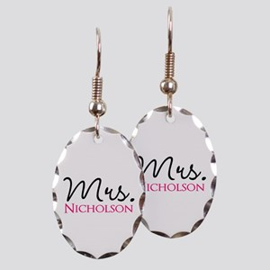 Customizable Name Mrs Earring Oval Charm