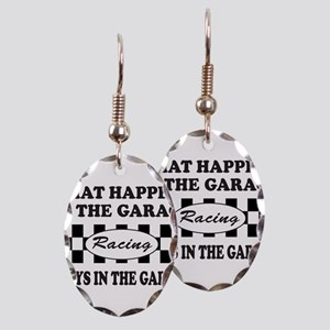 AUTO RACING Earring Oval Charm