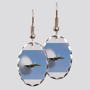 F/A 18 Sonic Boom Earring Oval Charm