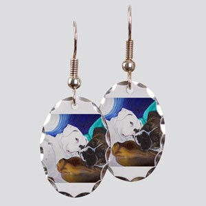 Busted Boxers Earring Oval Charm