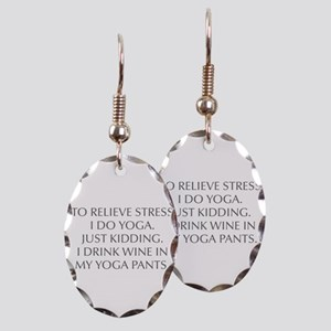 RELIEVE STRESS wine yoga pants-Opt gray Earring
