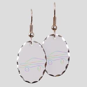 Sports Car Earring Oval Charm