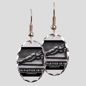 A good partner or spouse Earring Oval Charm
