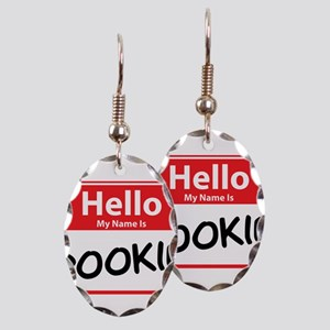 Hello My Name is Pookie Earring Oval Charm