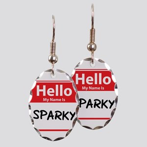 Hello My Name is Sparky Earring Oval Charm
