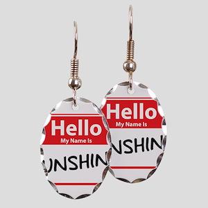 Hello My Name is Sunshine Earring Oval Charm
