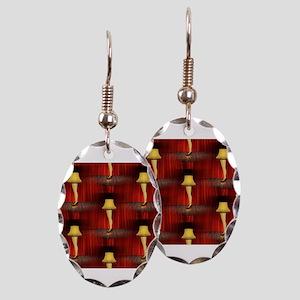 christmas story leg lamp Earring Oval Charm