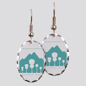 Mountain Music Earring Oval Charm