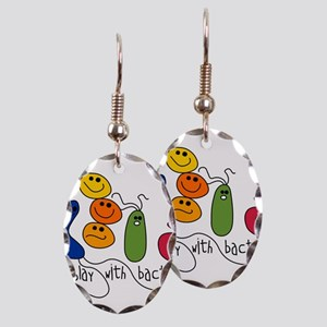 play bacteria w Earring Oval Charm