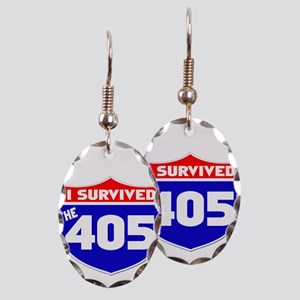 I survived the 405 Earring Oval Charm