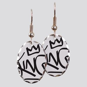 King Tag Earring Oval Charm