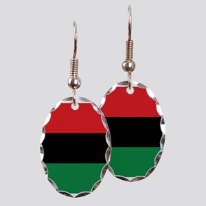 The Red, Black and Green Flag Earring Oval Charm