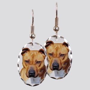 Pitbull Earring Oval Charm