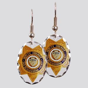 San Bernardino County Sheriff Earring Oval Charm